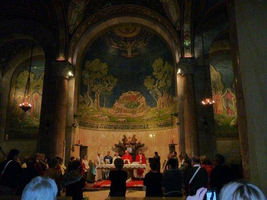 Garden of Gethsemane: во время службы