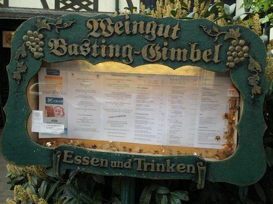 Basting Gimbel - Die Wirtschaft: Nice Menu