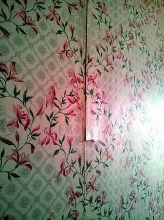 Hotel Cristallo : Muri sottili e tapezzeria che si stacca