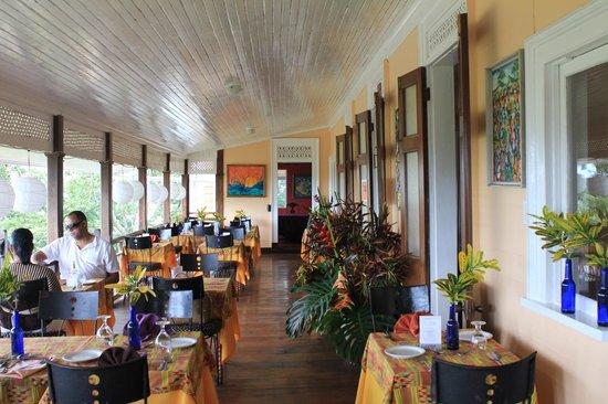Bloomfield Great House Restaurant Bar Verandah Dinning Area
