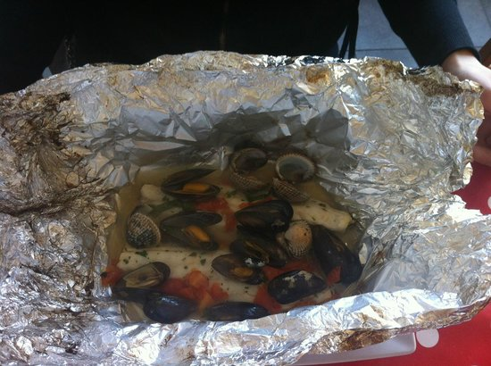 Da Mimmo: Sea Bass baked in foil
