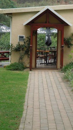 Caversham Mill Restaurant : Front door of the restaurant leading to the deck