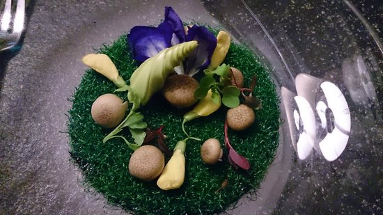 L'Appart - Sofitel Bangkok Sukhumvit: Edible 'garden' beneath my soup bowl