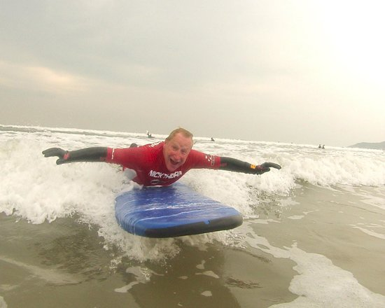Nick Thorn Surf School: Andrew came to us for his 66th birthday and learnt to surf!!