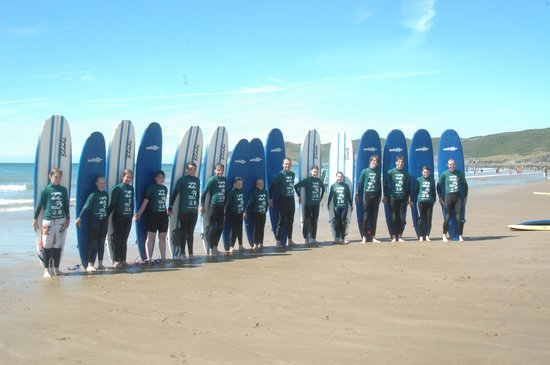 Nick Thorn Surf School: we can cater for groups of any size and offer group discount!
