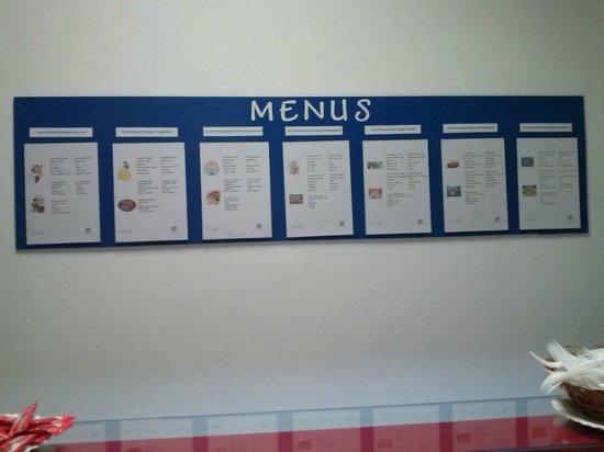 Lanzasur Club: menus