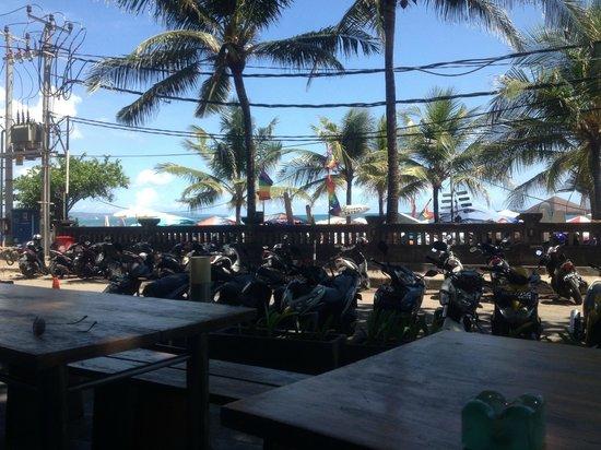 Swiss-Belinn Legian: View from a restaurant on the beach