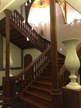 Hotel Merici: Detail van het trappenhuis