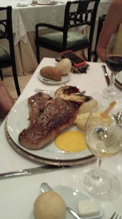 Iberostar Grand Hotel Bavaro : 9 oz filet mignon. SOOOOOO good, with a crab cake of course