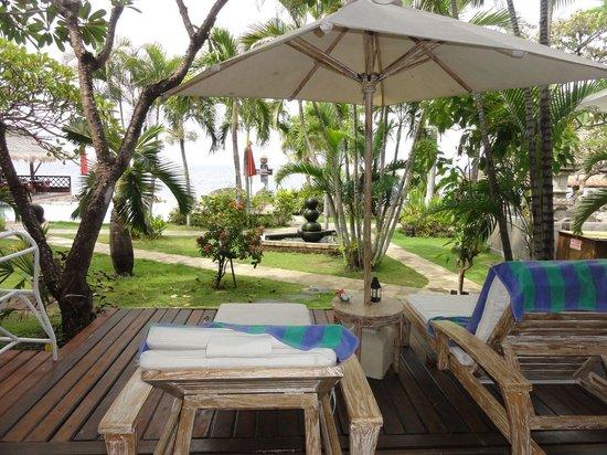 Tauch Terminal Resort Tulamben & Spa : Blick von Terasse