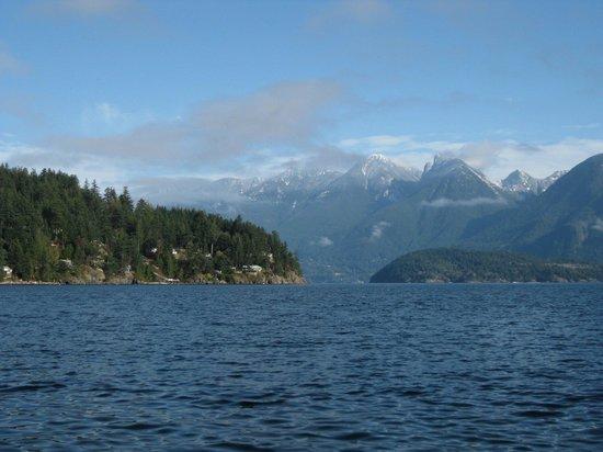 Bowen Island, Canada: Blick vom Osten der Insel aufs Festland
