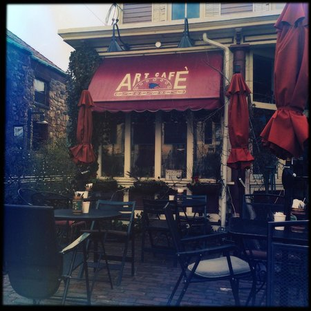 art cafe of nyack: Front of the cafe.