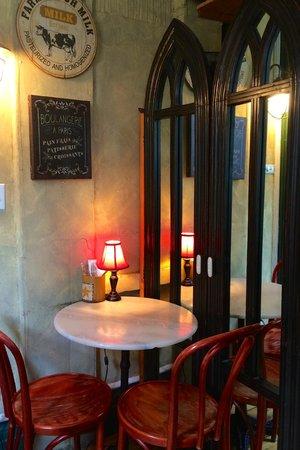 art cafe of nyack : A corner of the cafe.