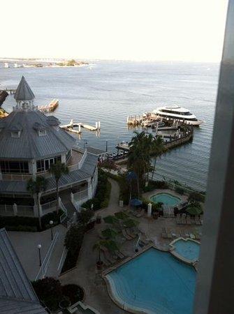 Sanibel Harbour Marriott Resort & Spa: Sanibel Island in the distance