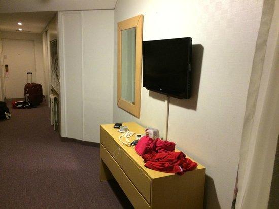 Obelisco Center Suites: visao interna do apartamento