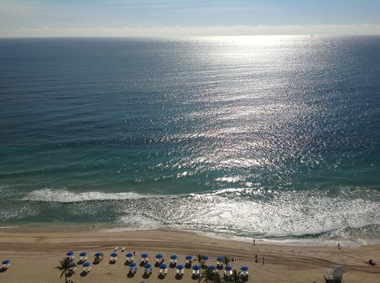 Hilton Fort Lauderdale Beach Resort: Beach looking down from Balcony