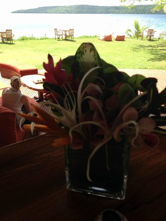 The Havannah: Fresh Flowers Every morning at Breakfast
