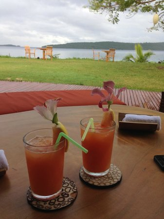 The Havannah, Vanuatu : Complimentary drink on arrival