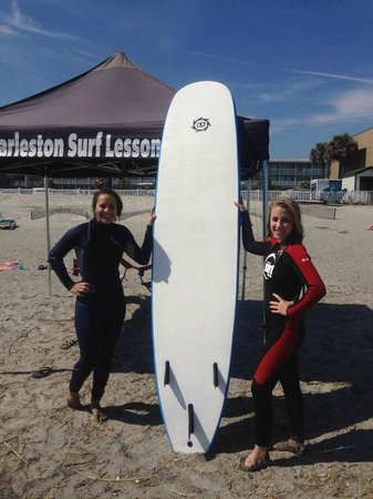 Charleston Surf Lessons: After our surf lesson!