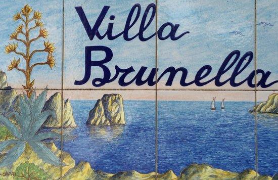 Villa Brunella: Insegna