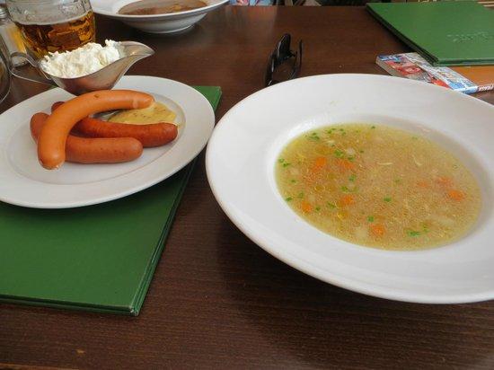 Lokal - U Bile Kuzelky: soup and homemade sausages