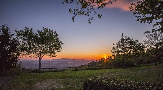 Villa Bonadea: Panorama su Pistoia
