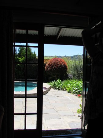Sanddrif Guest Farm: A View Through The Door Way Of Our Pool Cottage