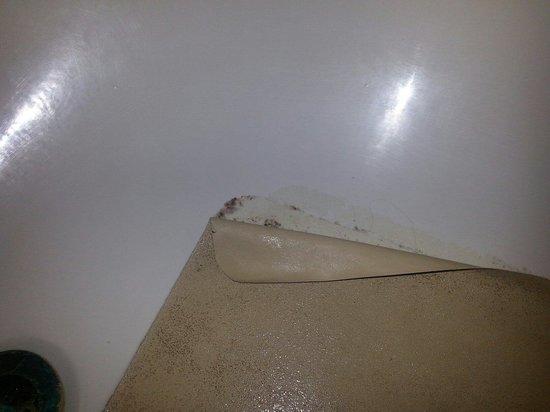 Red Roof Inn Hardeeville: Nastiness under the bath mat