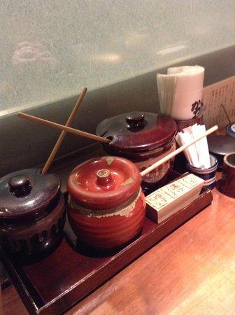 Katsukura Shinjuku Takashimaya: The condiments for the sauce