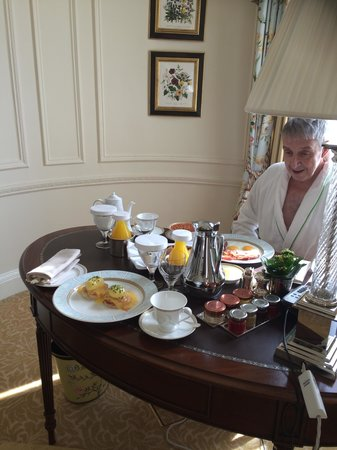 The Savoy: Breakast served in our suite - totally delicious