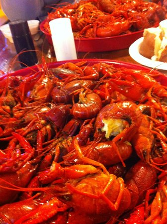 Hawk's Restaurant : Boiled crawfish!