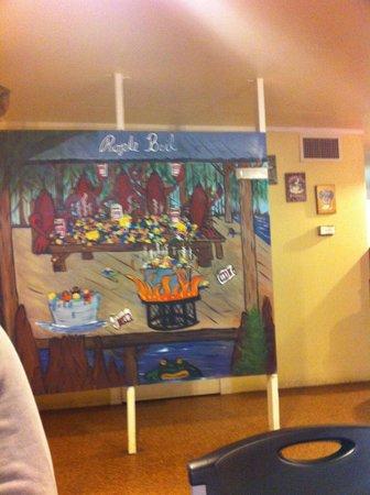 Hawk's Restaurant: Mural