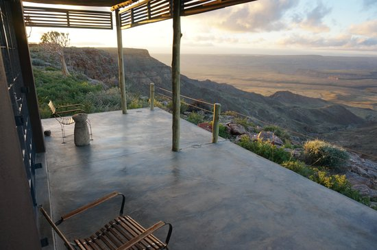 Fish River Lodge: Terrasse sur canyon