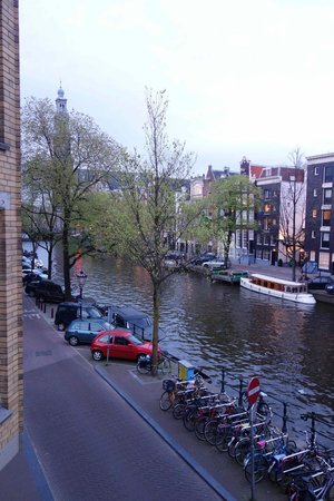 Petit Prince: View looking left (Westerkerk, Anne Frank house)