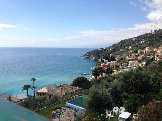 Solaria: Vista sul mare di Sori dalla terrazza di stanza Paradiso