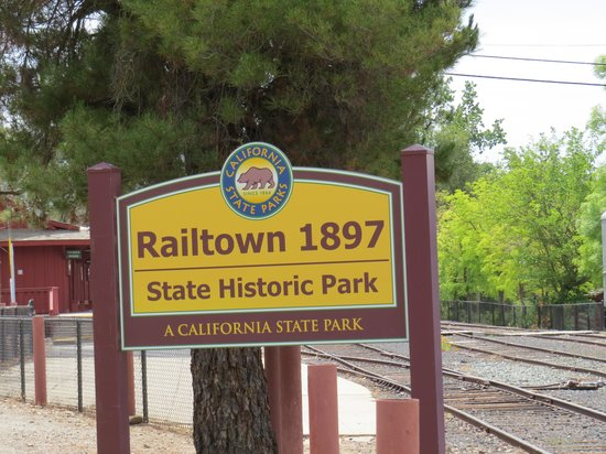 Railtown 1897 State Historic Park: entrance sign