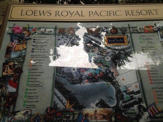 Loews Royal Pacific Resort at Universal Orlando: A map of the resort.