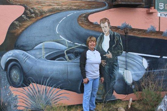 Blue Swallow Motel: Outside Mural