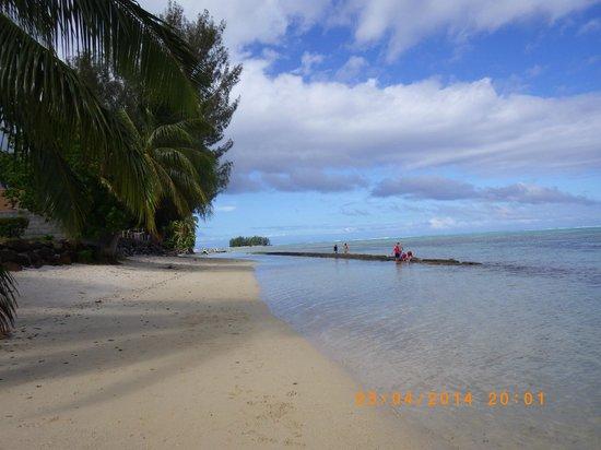 Hotel Fare Vaimoana: Vue sur la plage