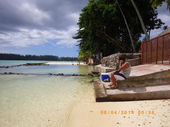 Hotel Fare Vaimoana: Vue sur le lagon