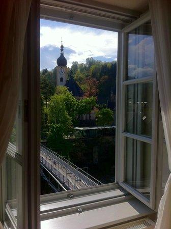 Schloss an der Eisenstrasse : Zimmerausblick Altstadt