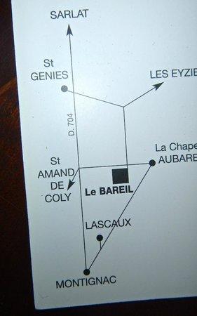 Le Bareil: Back of card