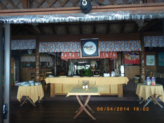 Hotel Fare Vaimoana: Salle de restaurant