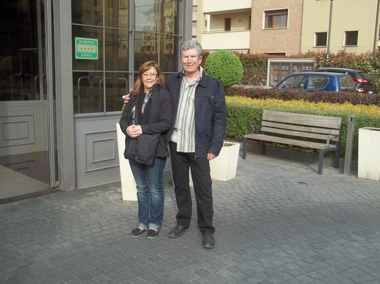 Italiana Hotels Milan Rho Fair : Standing outside the hotel entrance
