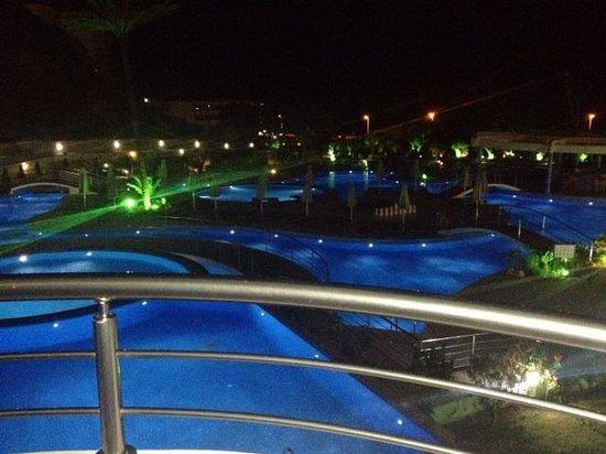 Atrium Platinum Hotel : Night time view delux sea view room