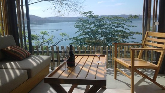 Andaz Peninsula Papagayo Resort : I believe every room has a private terrace such as this one (wine optional!)