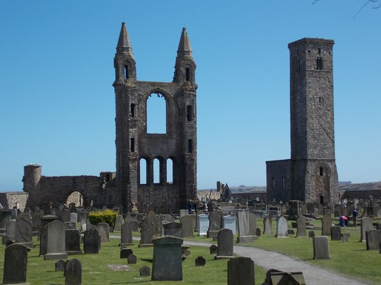 St Andrews Cathedral: ruins of cathedral