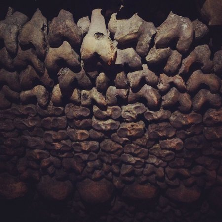The Catacombs: Just a few of the millions of bones on display
