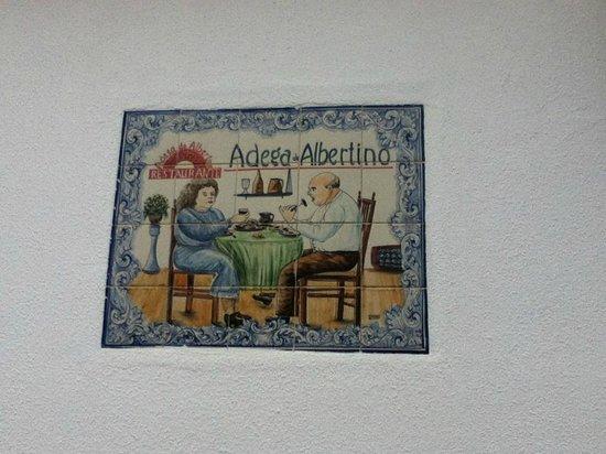 Adega do Albertino: Plaque Tile outsude