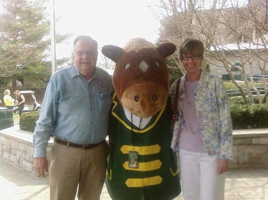 Keeneland: My wife and I with Buckles.